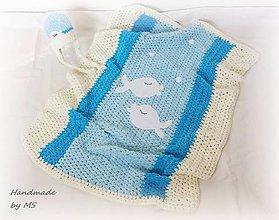Textil - Detská deka RYBKA - 9283844_