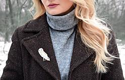 Odznaky/Brošne - Drevená brošňa Plamienka - 9284960_