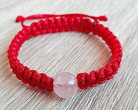 Náramky - Detský ochranný červený náramok-ruženín - 9283659_