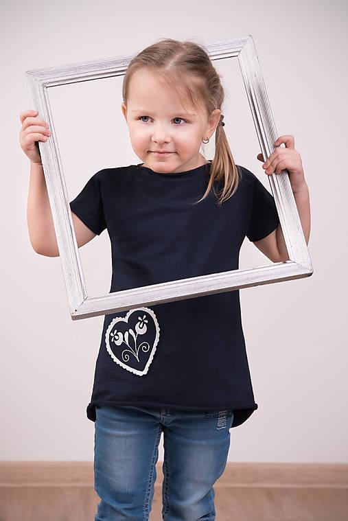 Detské oblečenie - Tmavomodrá tunika I - folk - 9285228_