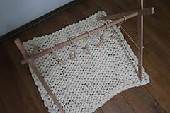 Hračky - Drevená hrazdička pre bábätko BABY GYM - 9285297_
