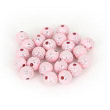 Korálky - Trblietavé korálky  (Ružová) - 9282629_