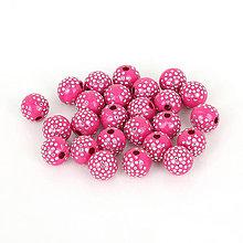 Korálky - Trblietavé korálky  (Tmavo Ružová) - 9282630_