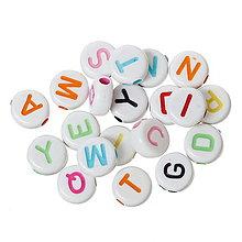 Korálky - Farebné písmenkové korálky - 9283248_