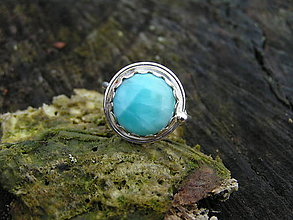 Prstene - Strieborny prsteň Ag 925 Larimar - 9283781_