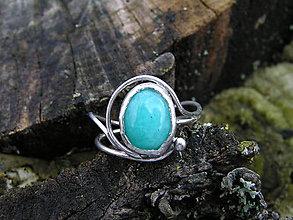 Prstene - Strieborny prsteň Ag925 Amazonit - 9284104_