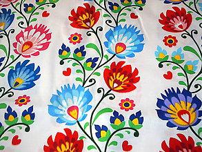 Úžitkový textil - folk bavlna - 9283005_