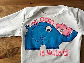 """Detské oblečenie - Maľované body s nápisom """"Môj ocko je najlepší..."""" (Pre dievčatko) - 9283407_"""