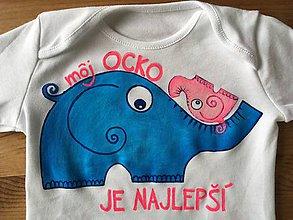 Detské oblečenie - Maľované body s nápisom