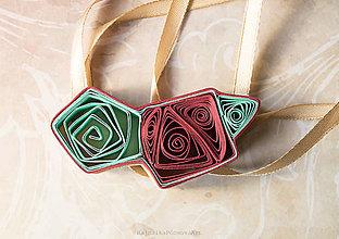 Náhrdelníky - Quilling náhrdelník geometria - 9284241_
