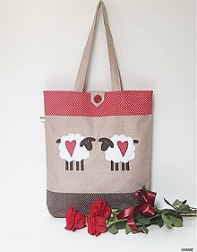 Nákupné tašky - Nákupná taška - s ovečkami - 9283153_