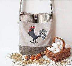 Nákupné tašky - Nákupná taška - čierny kohútik - 9284618_