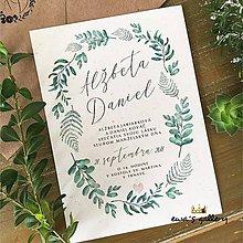 Papiernictvo - Svadobné oznámenie ~Natural Herbal~ - 9283514_