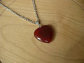 Náhrdelníky - prívesok srdce z Karneolu-Baran, Panna, Ryby - 9285598_