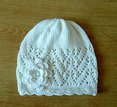 Detské čiapky - Biela bavlnena elegancia SKLADOM - 9285623_