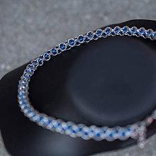 Náhrdelníky - Je mým vězněm - náhrdelník (modrý) - 9287175_