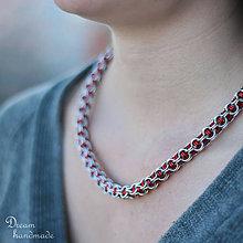 Náhrdelníky - Je mým vězněm - náhrdelník (červený) - 9287204_