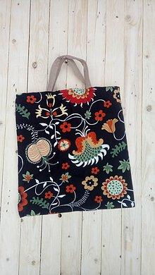 Nákupné tašky - Eko látková nákupná taška kvety - 9288591_