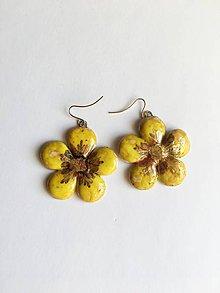 Náušnice - žlté kvietky - 9289097_