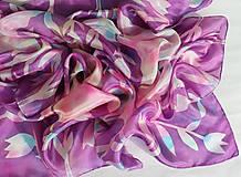 Tulipány..hodvábna šatka