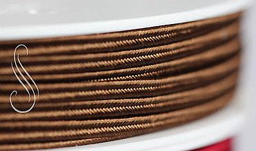 Galantéria - sutaška čokoládová cz A7902/1m - 9288041_