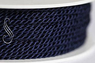 Galantéria - točená šnúrka tmavomodrá cz 2,8mm/ A7703/1m - 9288852_