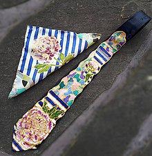 Doplnky - Sada kravaty a vreckovky Pivónia - 9289359_