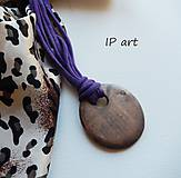 Náhrdelníky - Úpletový náhrdelník s medailonem - 9288937_