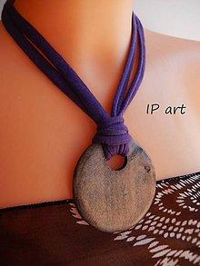 Náhrdelníky - Úpletový náhrdelník s medailonem - 9288936_