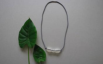 Náhrdelníky - náhrdelník SIVÝ - 9286959_