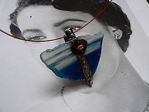 Náhrdelníky - Náhrdelník, Achát s tváří anděla - 9287494_