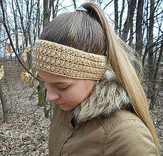 Ozdoby do vlasov - Háčkovaná čelenka - 9287875_