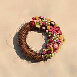 Dekorácie - Venček zo sušených kvetov - 9286077_