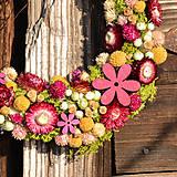 Dekorácie - Venček zo sušených kvetov - 9286079_