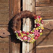 Dekorácie - Venček zo sušených kvetov - 9286080_