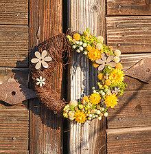 Dekorácie - Venček zo sušených kvetov - 9289707_