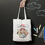 Nákupné tašky - Učiteľ (bavlnená taška) - 9289343_