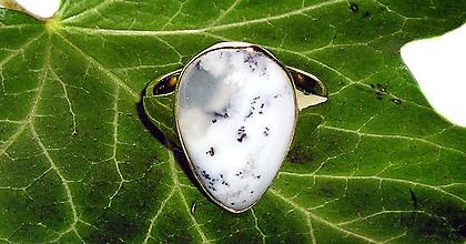 Prstene - ZLATÝ prsten dendritický OPÁL - 9286508_