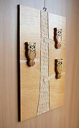 Dekorácie - Drevený obraz - Sovopedia  :-) - 9287889_