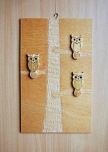 Dekorácie - Drevený obraz - Sovopedia  :-) - 9287892_