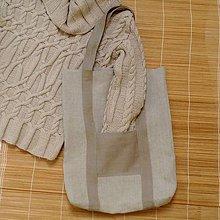 Nákupné tašky - nákupná taška 100% ľan - 9286597_