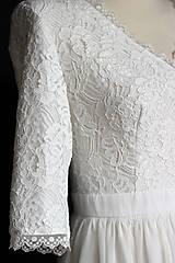 Šaty - Krátke svadobné šaty vo vintage štýle - 9287367_