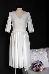 Šaty - Krátke svadobné šaty vo vintage štýle - 9287368_