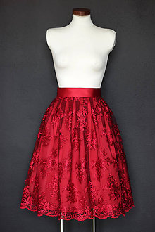 Sukne - Spoločenská sukňa z krajky so spodničkou rôzne farby - 9287170_