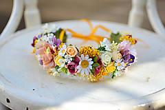 - Veselý slnečný venček z kvetov - 9288847_