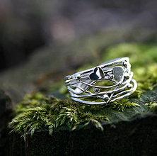 Prstene - Na vlnách života - strieborný prsteň - 9287014_