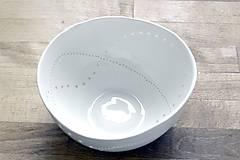 Nádoby - Madeirová porcelánová misa Vlnky - 9286964_