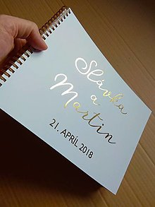 Papiernictvo - Kniha hostí zlatotlač - 9289195_