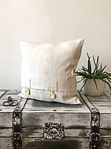 Obliečka na vankúš z ručne tkaného plátna