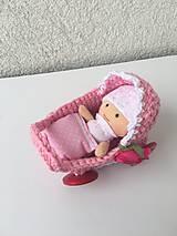 - Kočík pre bábiku s bábätkom. - 9287092_